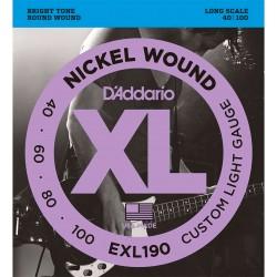 D'Addario EXL190 Nickel Wound Bas Strenge