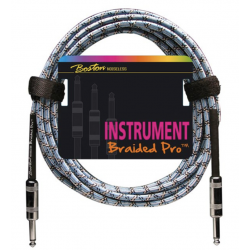 Boston Braided Pro Instrument Cable 3 m – Vintage Blue
