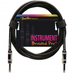 Boston Braided Pro Instrument Cable 3 m – Vintage Black