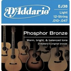D'Addario EJ38 Phosfor Bronze Light 12 str.