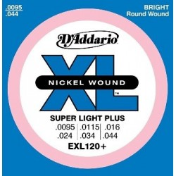 D'Addario EXL120+ Electric Nickel Wound Super Light Plus