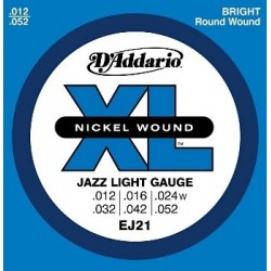 D'Addario EJ21 Electric Nickel Jazz Light