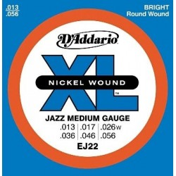 D'Addario EJ22 Electric Nickel Jazz Medium