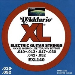 D'Addario EXL140 Electric Nickel Wound Light Top/Heavy Bottom