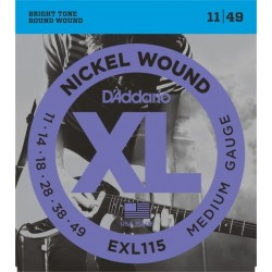 D'Addario EXL115 Nickel Wound Medium Gauge