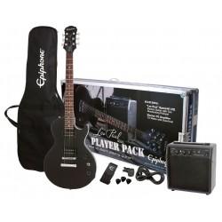 Epiphone Les Paul Begynder Guitarsæt Ebony, sort