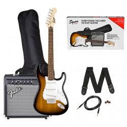 Fender SQ Stratocaster Brown Sunburst Guitarpakke