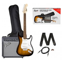 Fender Squier Stratocaster Guitarpakke Brown Sunburst