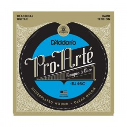 D'Addario EJ46C Clas. Nylon Hard Tension Silverplated Wound