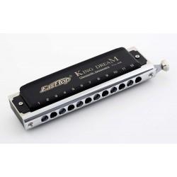 Easttop Chromatic Harmonica-T12-48K King Dream-12 hole-BK