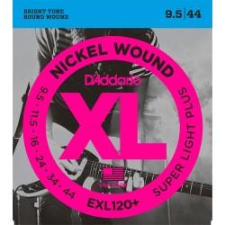 D'Addario EXL120 Plus Nickel Wound El-guitar strenge 9.5-44