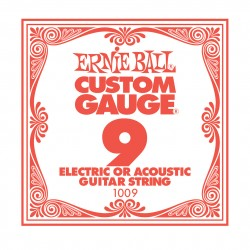 Ernie Ball EB-1009 el-/acoustic guitar .009 enkelt-streng