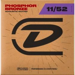 Dunlop Acoustic Phosphor/Bronze 11-52 western strenge Front