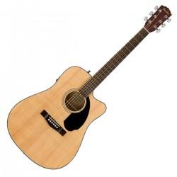 Fender CD-60SCE Dreadnought western guitar, Natural F