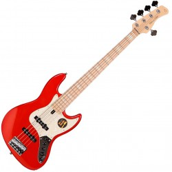 ire Marcus Miller V7 SWAMP ASH-5 2nd Gen el-bas, 5-strings Electric Bass bright metallic red