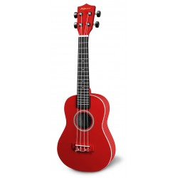 Reno RU300-RED Concert Ukulele Solid Red m. gigbag