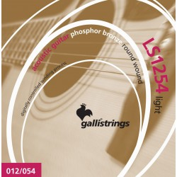 Gallistrings LS1254 Phosphor Bronze Wound12-54