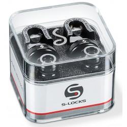 Schaller Security Lock Black Chrome Strap Locks
