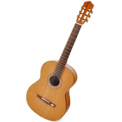 Salvador Cortez CC20 Klassisk/spansk guitar Angled
