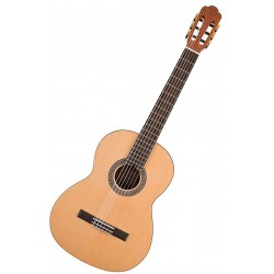 Salvador Cortez CS244 Klassisk/spansk guitar 4/4 Angled