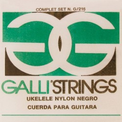 Gallistrings G216B Ukulele Soprano Black Nylon