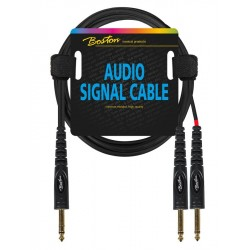 Boston Audio Signal Kabel stereo jack/2 x mono jack 3 meter