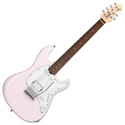 Sterling by Music Man SUB CT30SSHS Short Scale Shell Pink El-guitar Angled