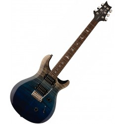 PRS SE Custom 24, 2020 Fade Limited Edition, Charcoal Blue Fade El-guitar Angle