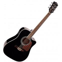 Richwood RD-17CEBK Western Guitar m. Fishman EQ og tuner Sort Angled