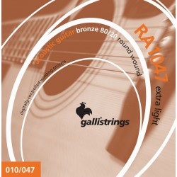 Gallistrings RA1047 Bronze 80/20 Wound 10-47