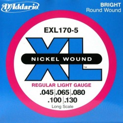 D'Addario EXL170-5 Nickel Wound 45-130