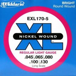 D'Addario Nickel 5-str. 45-65-80-100-130