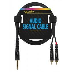 Boston AC-272-300 2x RCA til 6.3mm jack stereo kabel 3,0 m