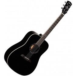 Alvarez AD60 Sort gloss Western guitar Front