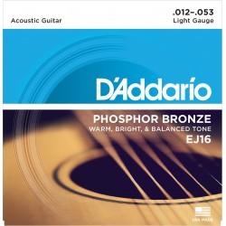D'Addario EJ16 Phosfor Bronze Light western strenge