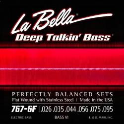 La Bella 767-6F BASS 6 Stainless Flats – 26-95 basstrenge