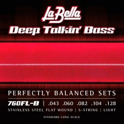 La Bella 760FL Deep Talkin' Bass Flatwound 43-128 basstrenge