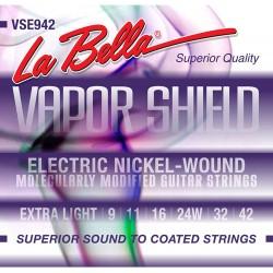 La Bella VSE942 Vapor Shield 9-42 El-guitar Strenge 9-42