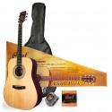 Cort Earth 60 pakke western guitar i natur m. gigbag og tilbehør