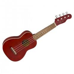Fender Venice Soprano Ukulele Cherry WN Angled