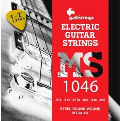 Gallistrings MS1046 Regular Steel Round Wound 6 str. 10-46 El-guitar strenge Front