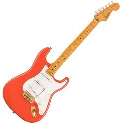 Fender SQ FSR Classic Vibe '50s Strat MN Fiesta Red med Guld Hardware Front