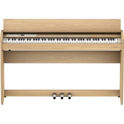 Roland F701-LO el-klaver Light Oak Front