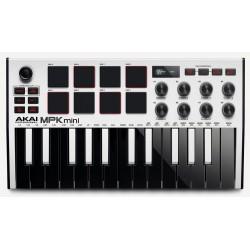 AKAI Professional MPK Mini MK3 Keyboard - Hvid