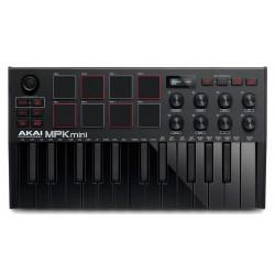 Akai MPK Mini MK3 Midi USB Keyboard Controller - Black