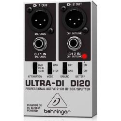 Behringer ULTRA-DI DI20 2-kanal DI-Box/splitter front