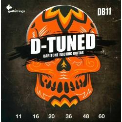 Gallistrings D660 D-Tuned bariton el-guitar Strenge 11-60 front