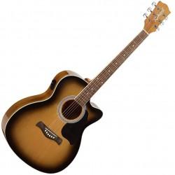 Richwood RA-12-CESB Western guitar m. pickup front