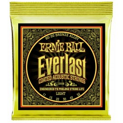 Ernie Ball Everlast Light Coated 80/20 Bbronze 10-50 Westernstrenge