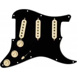 Fender Pre-wired Strat Pickguard, Texas Special SSS (Sort)